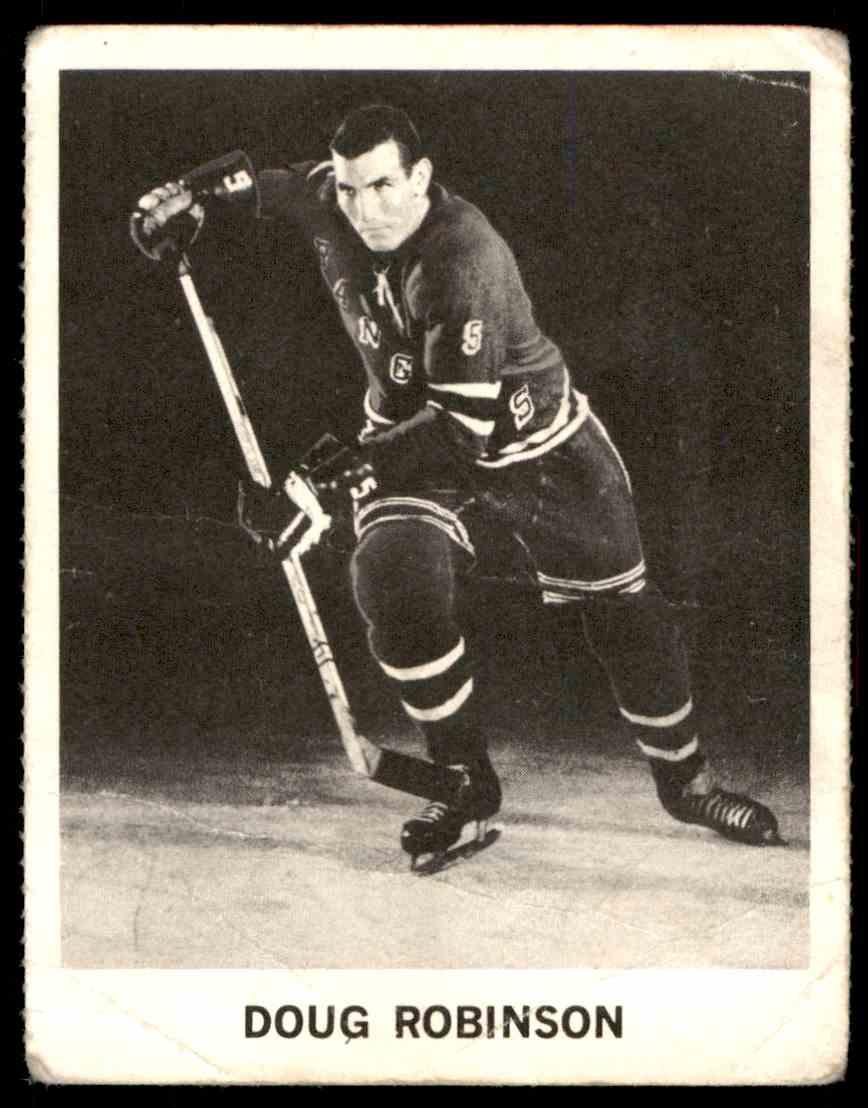 1965-66 Coca-Cola NHL Players Doug Robinson #77 card front image