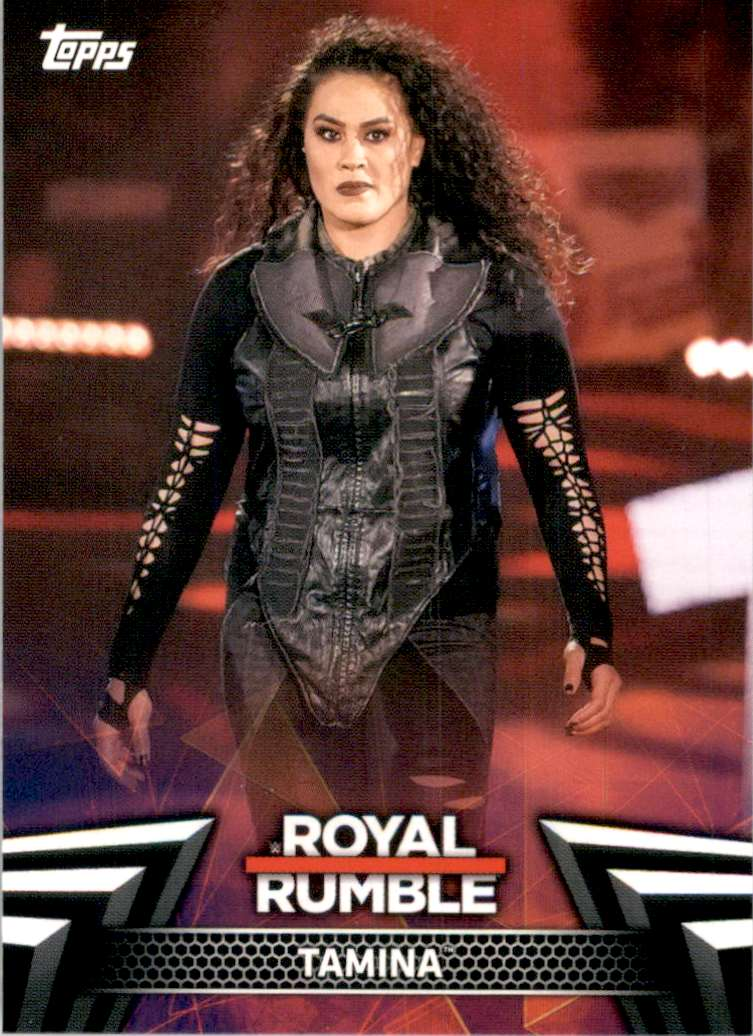 2019 Topps Wwe Women's Division Women's Royal Rumble Tamina #RR9 card front image