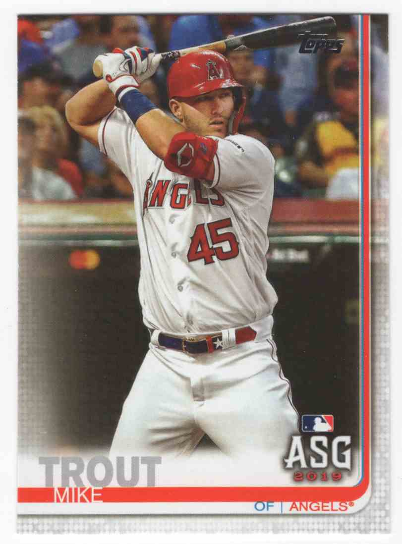 2019 Topps Update Mike Trout As #US146 card front image