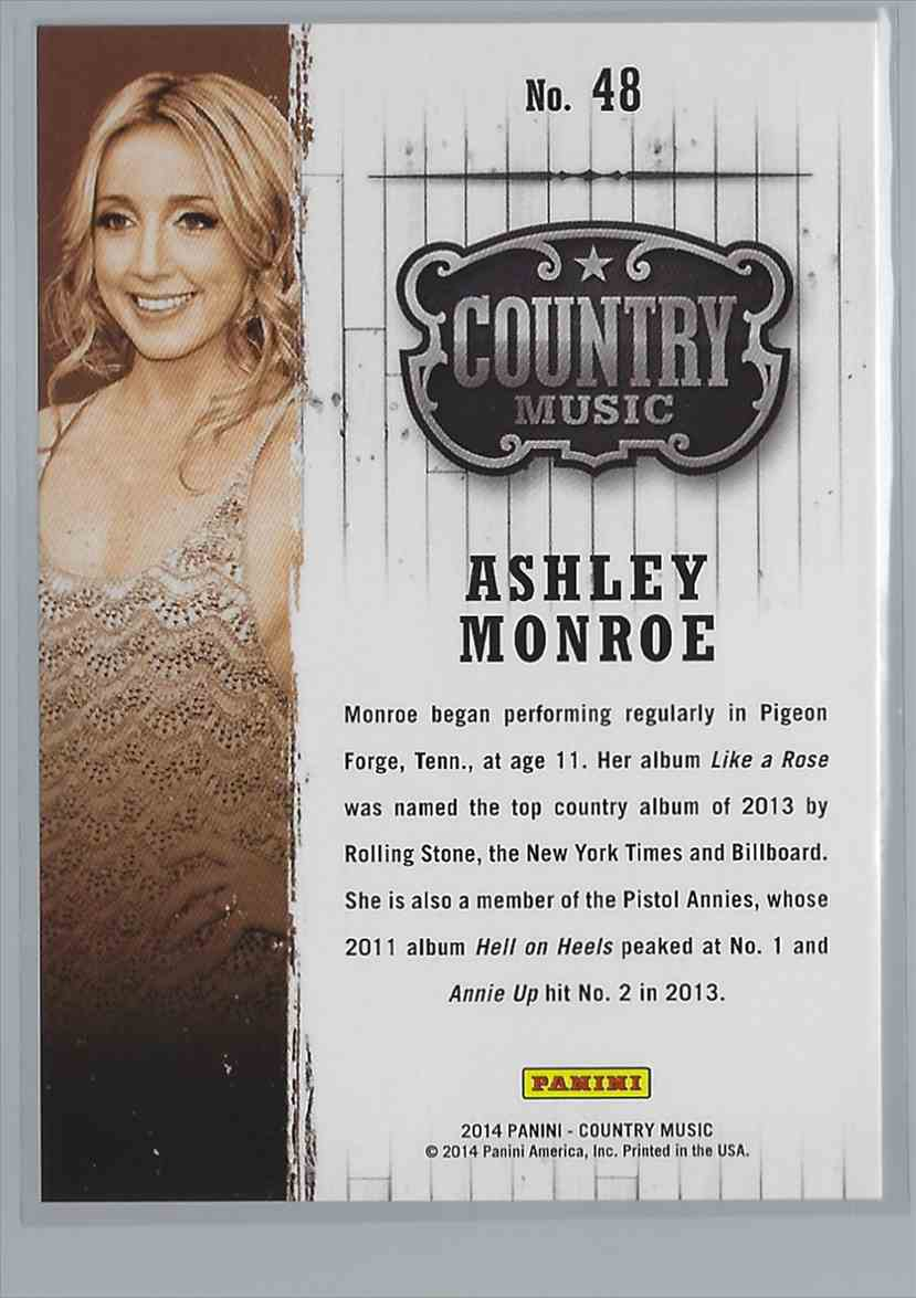 2015 Country Music Purple Ashley Monroe #48 card back image