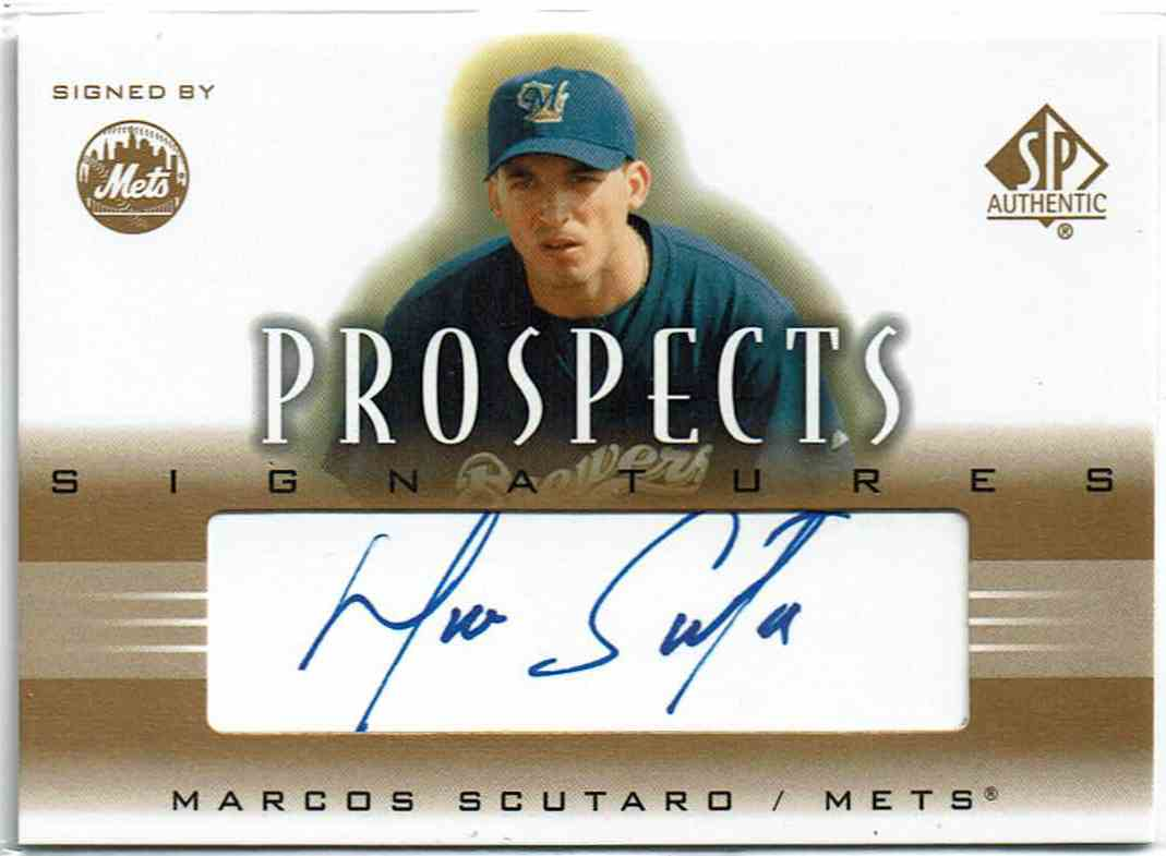 2002 SP Authentic Prospects Signatures Marco Scutaro #P-MS card front image