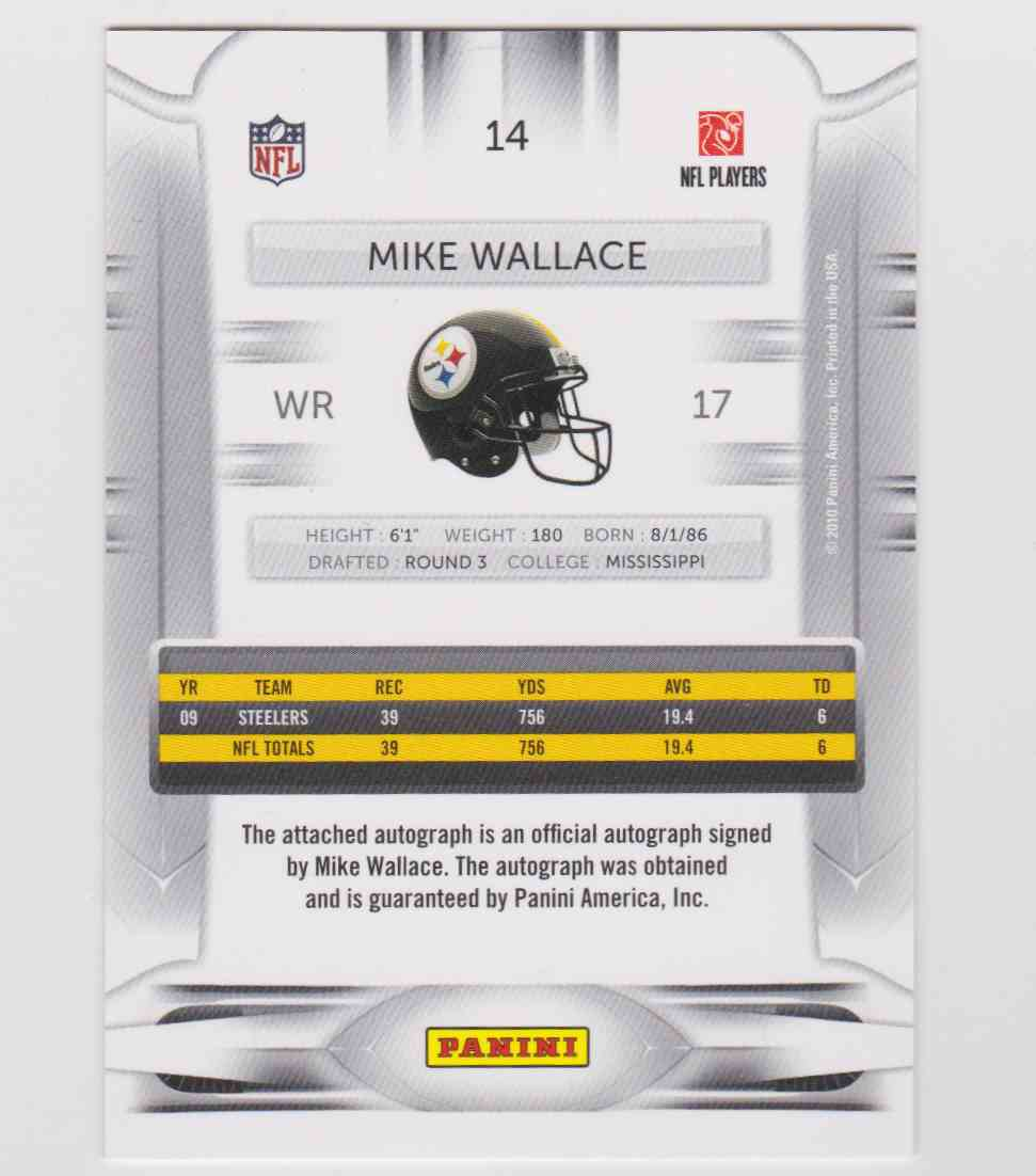 2010 Panini Prestige Rookie Review Classic Autographs Mike