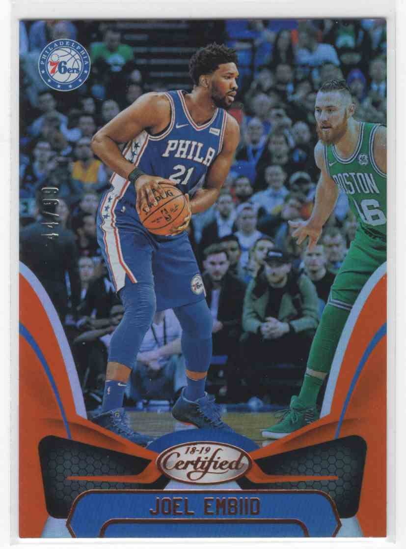 2018-19 Panini Certified Joel Embiid #3 card front image
