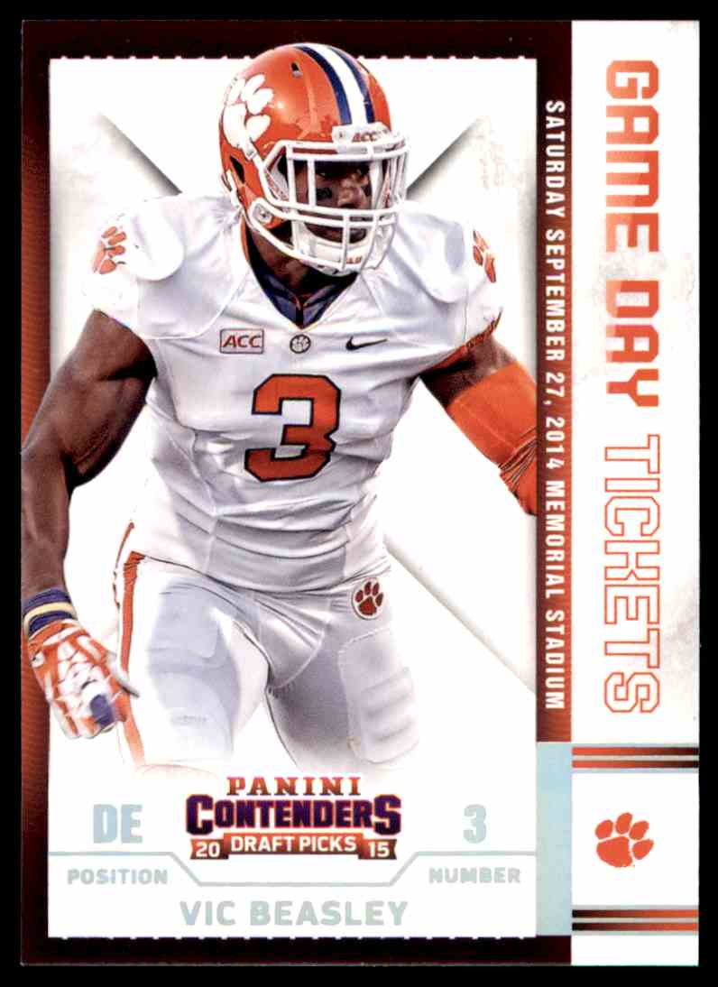 newest e97a1 f6942 2015 Contenders Draft Picks Game Day Tickets Vic Beasley ...