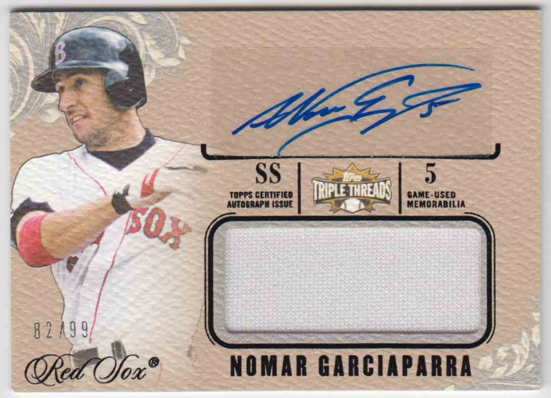 2014 Topps Triple Threads Unity Relic Autographs Nomar Garciaparra #UAJR-NG card front image
