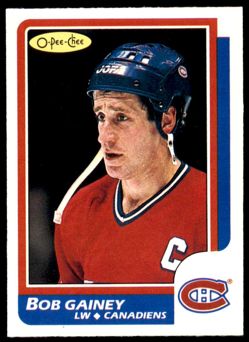 1986-87 OPC Bob Gainey #96 card front image