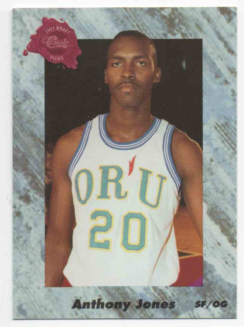 1991-92 Classic Draft Anthony Jones #189 card front image