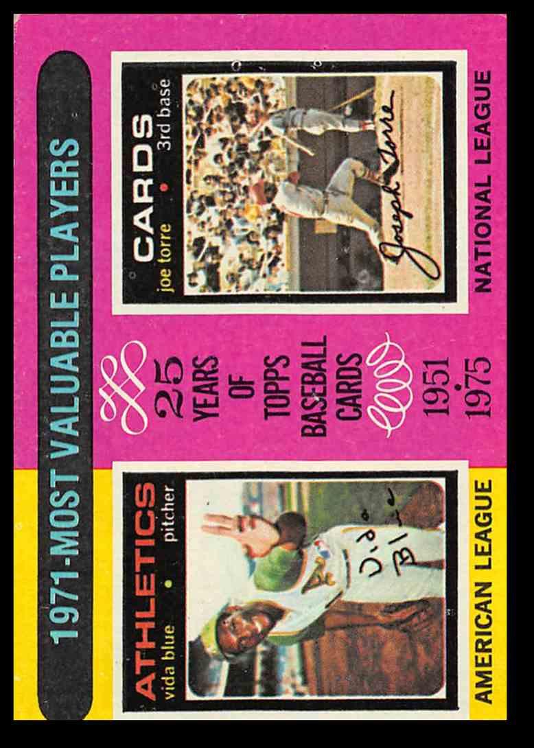 1975 Topps Vida Bluejoe Torre Mvp Baseball Card 209 On Kronozio
