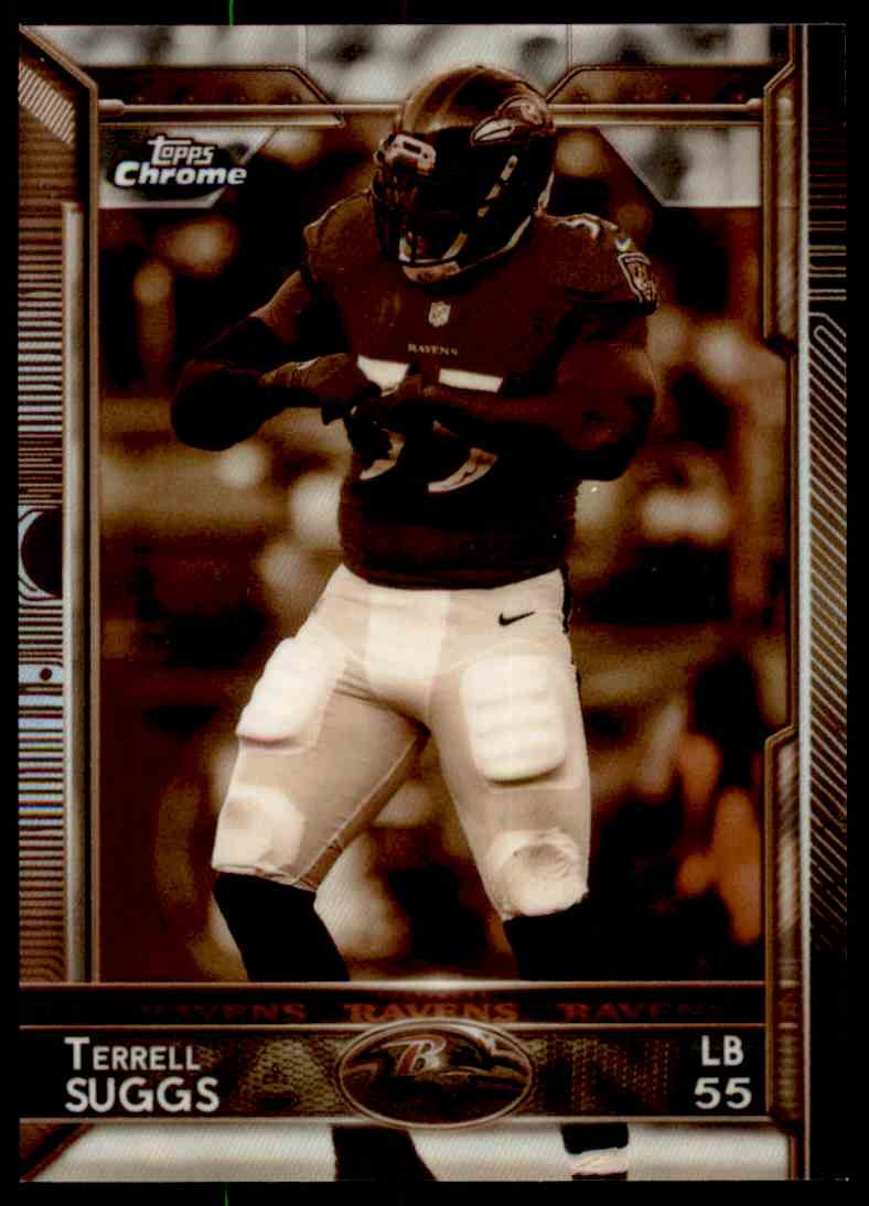 2015 Topps Chrome Sepia Refractor Terrell Suggs #31 card front image