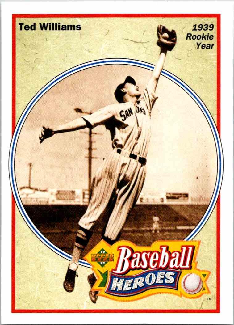 1992 Upper Deck Baseball Heroes Ted Williams 28 On Kronozio