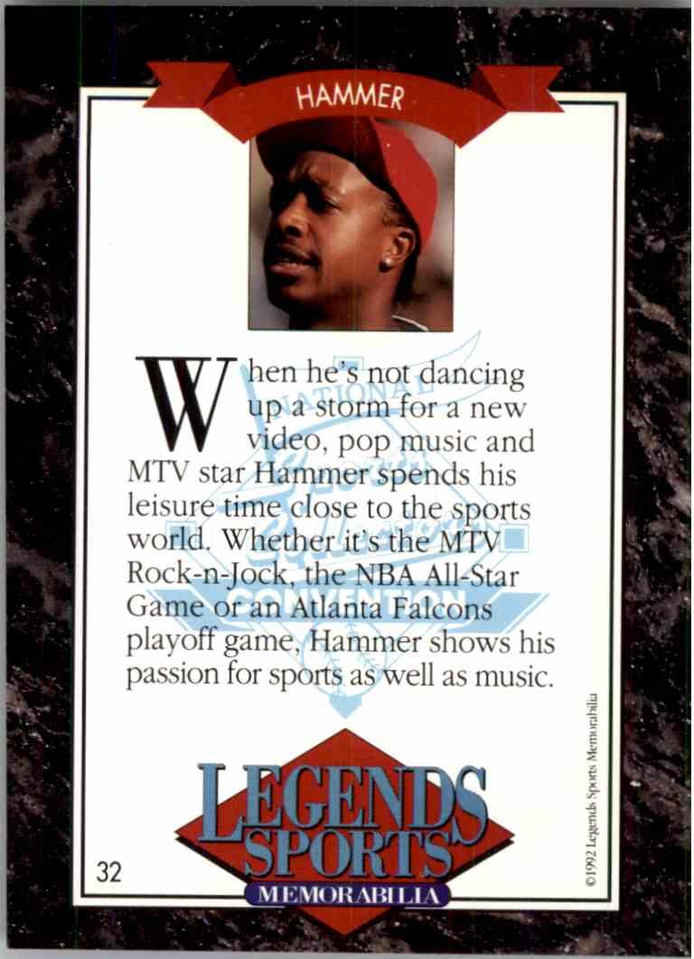 1992 Legends Sports Memorabilia - MC Hammer - #32 on Kronozio