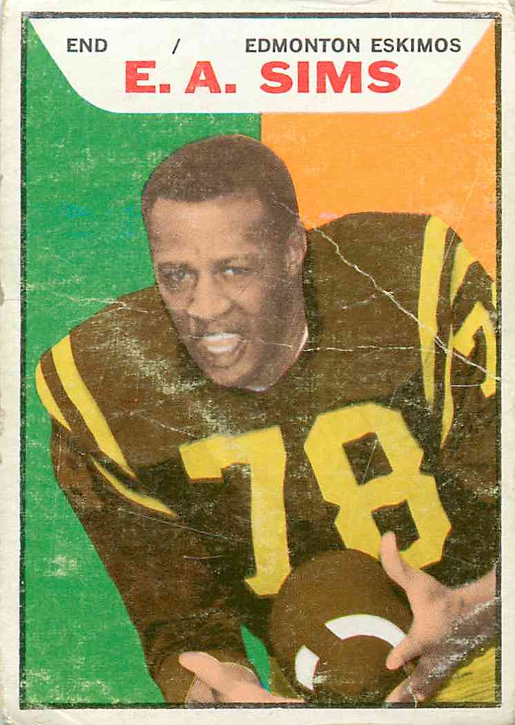 1965 Topps E.A. Sims #41 card front image