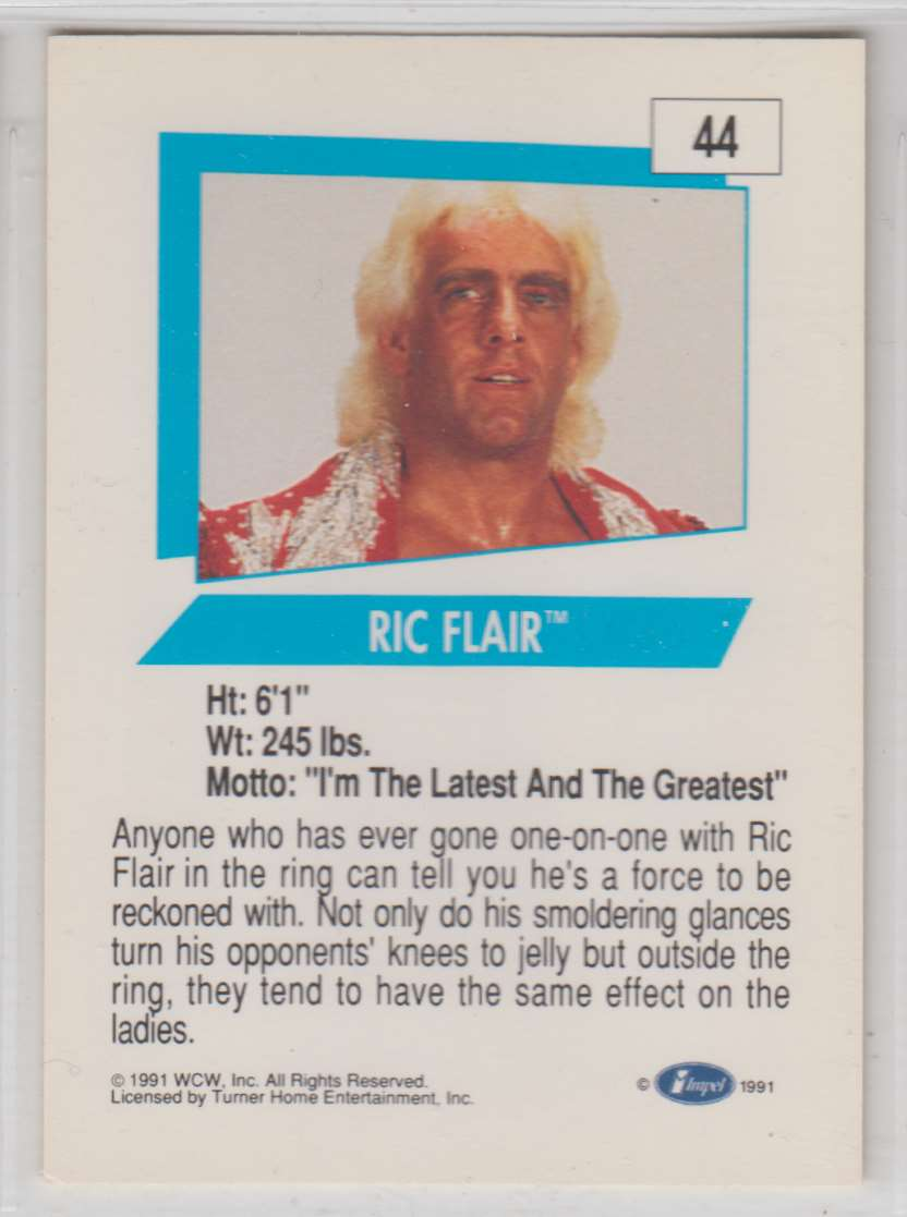 1991 Impel Wcw Ric Flair #44 card back image