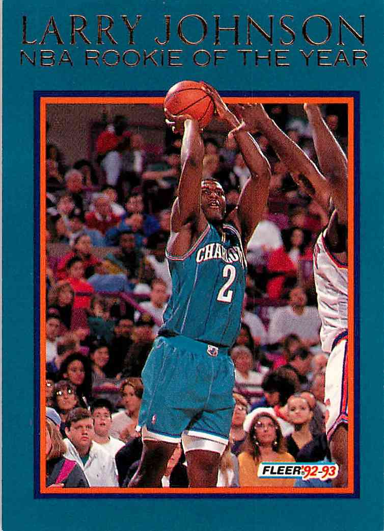 1992 93 Fleer Larry Johnson 4 On Kronozio