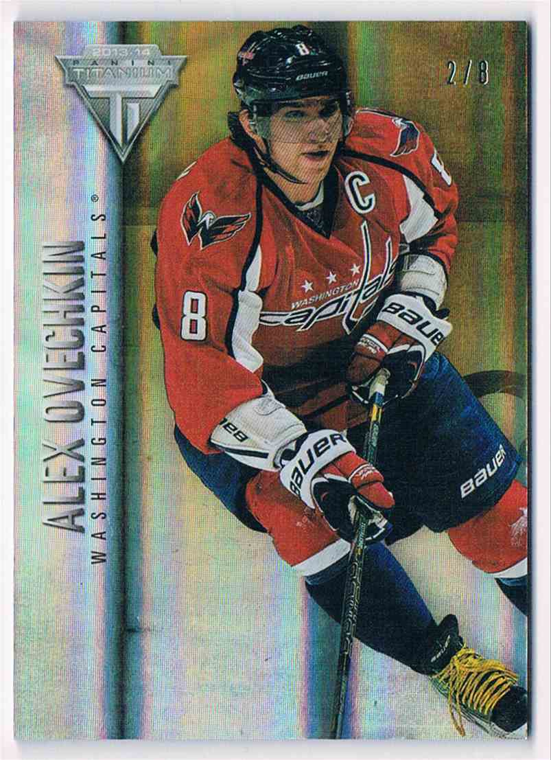 2013-14 Panini Titanium Jersey Number Alex Ovechkin #2 card front image