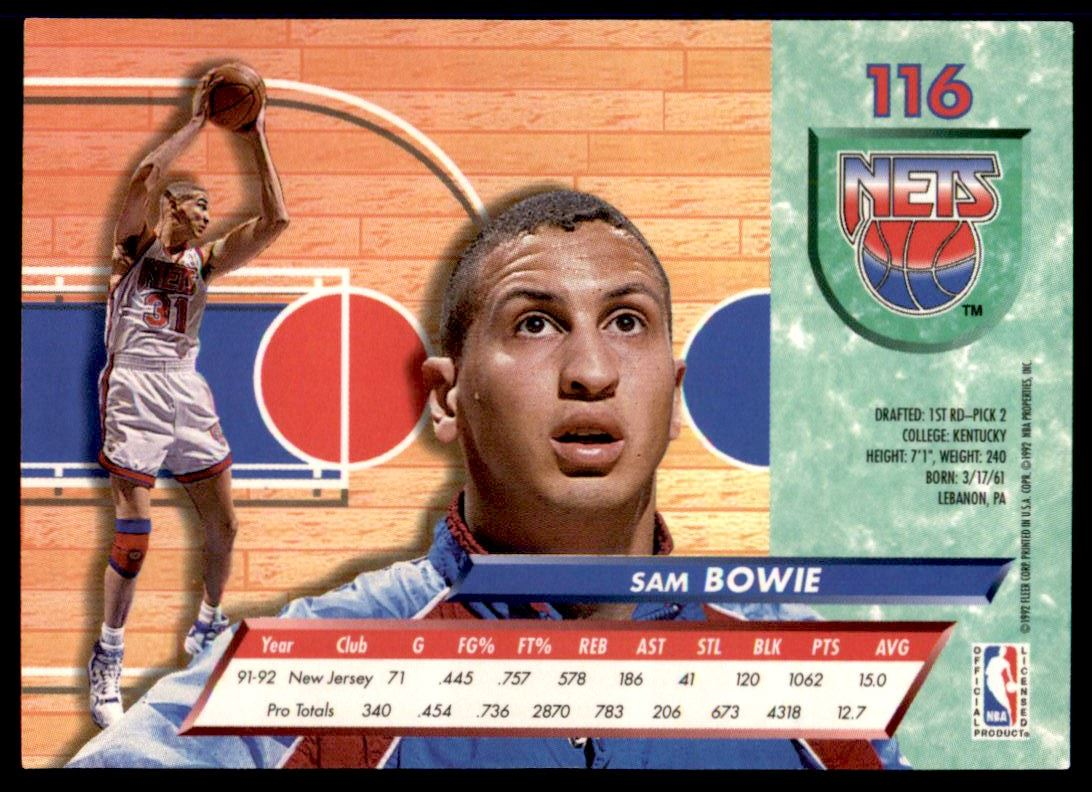 147 Sam Bowie trading cards for sale
