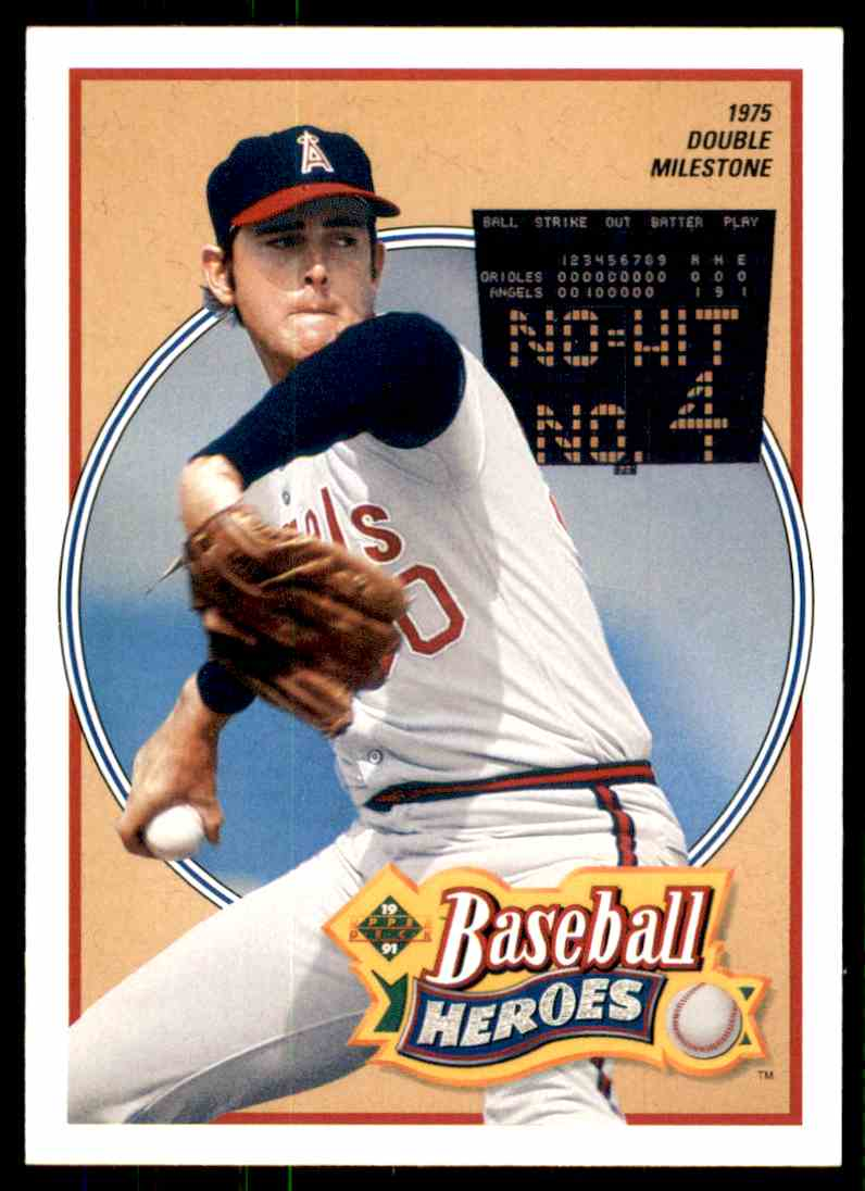 1990 Upper Deck Baseball Heroes Nolan Ryan 12 Of 18 On