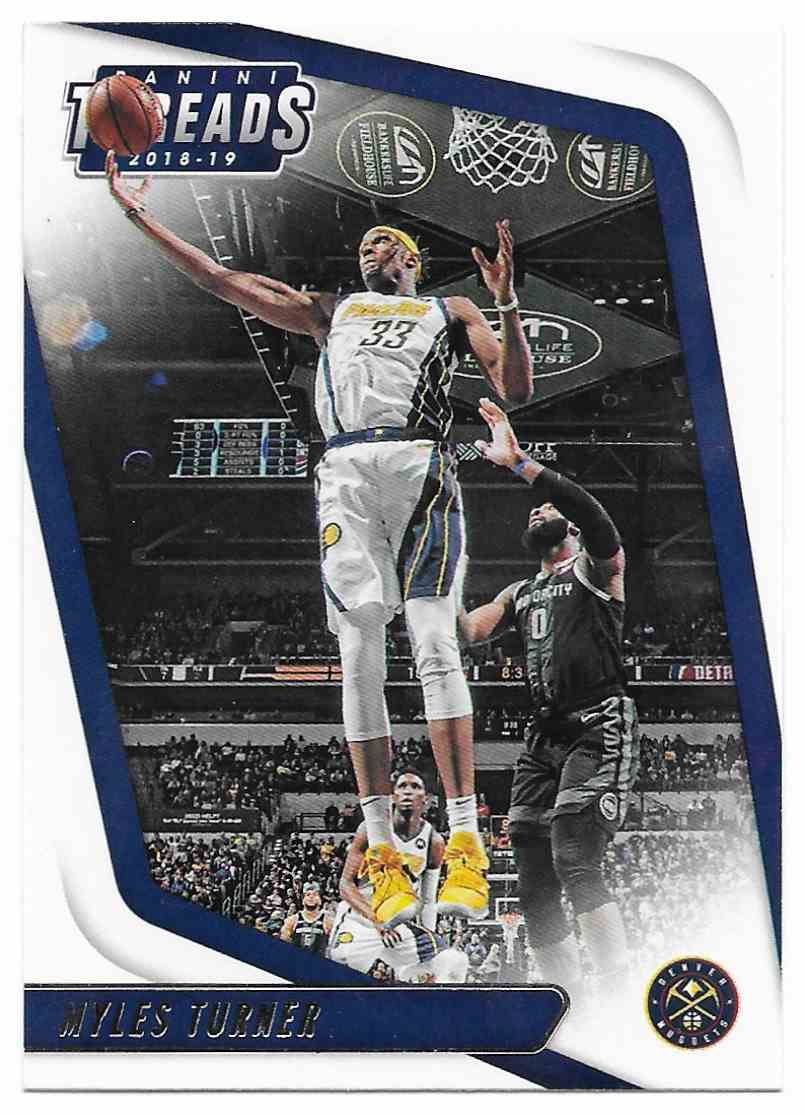 2018-19 Panini Threads Myles Turner #65 card front image