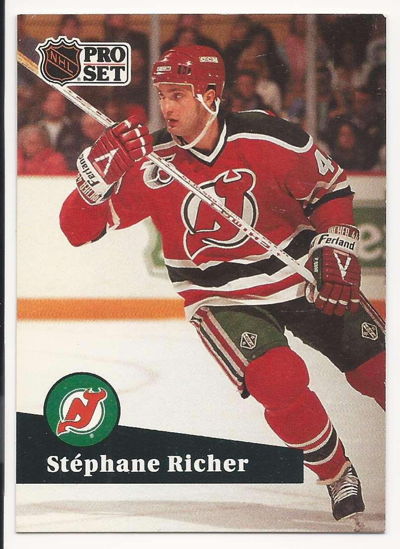 1991-92 Pro Set Stephane Richer #420 card front image