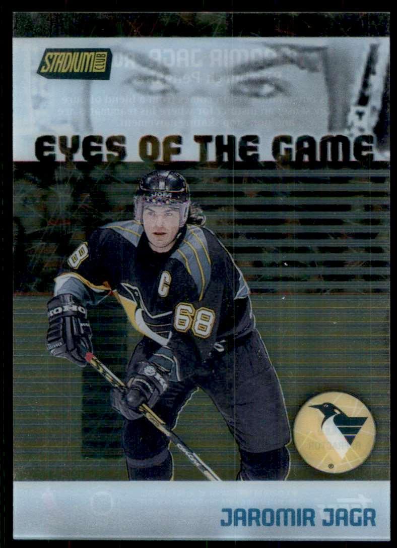 1999-00 Stadium Club Eyes Of The Game Refractors Jaromir Jagr #EG1 card front image