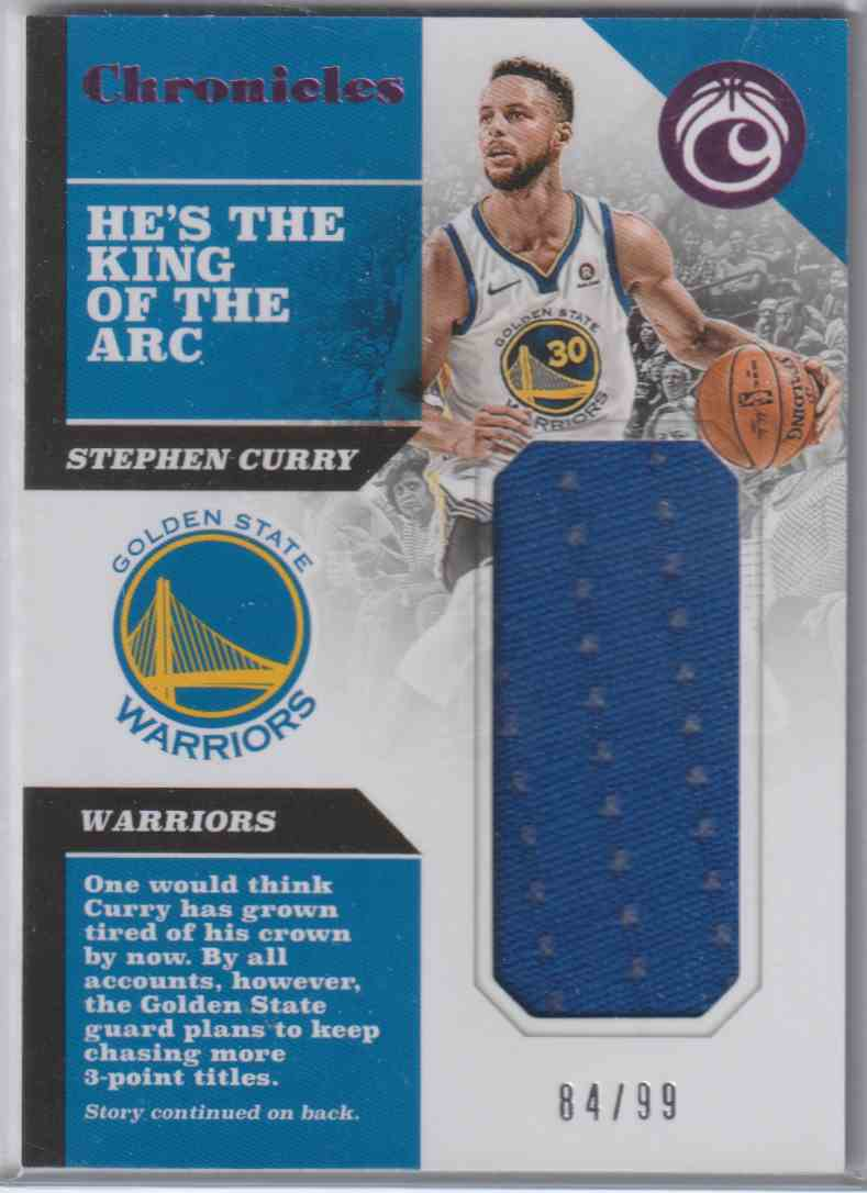 2017-18 Panini Chronicles Swatches Pink Stephen Curry #CS-SCR card front image
