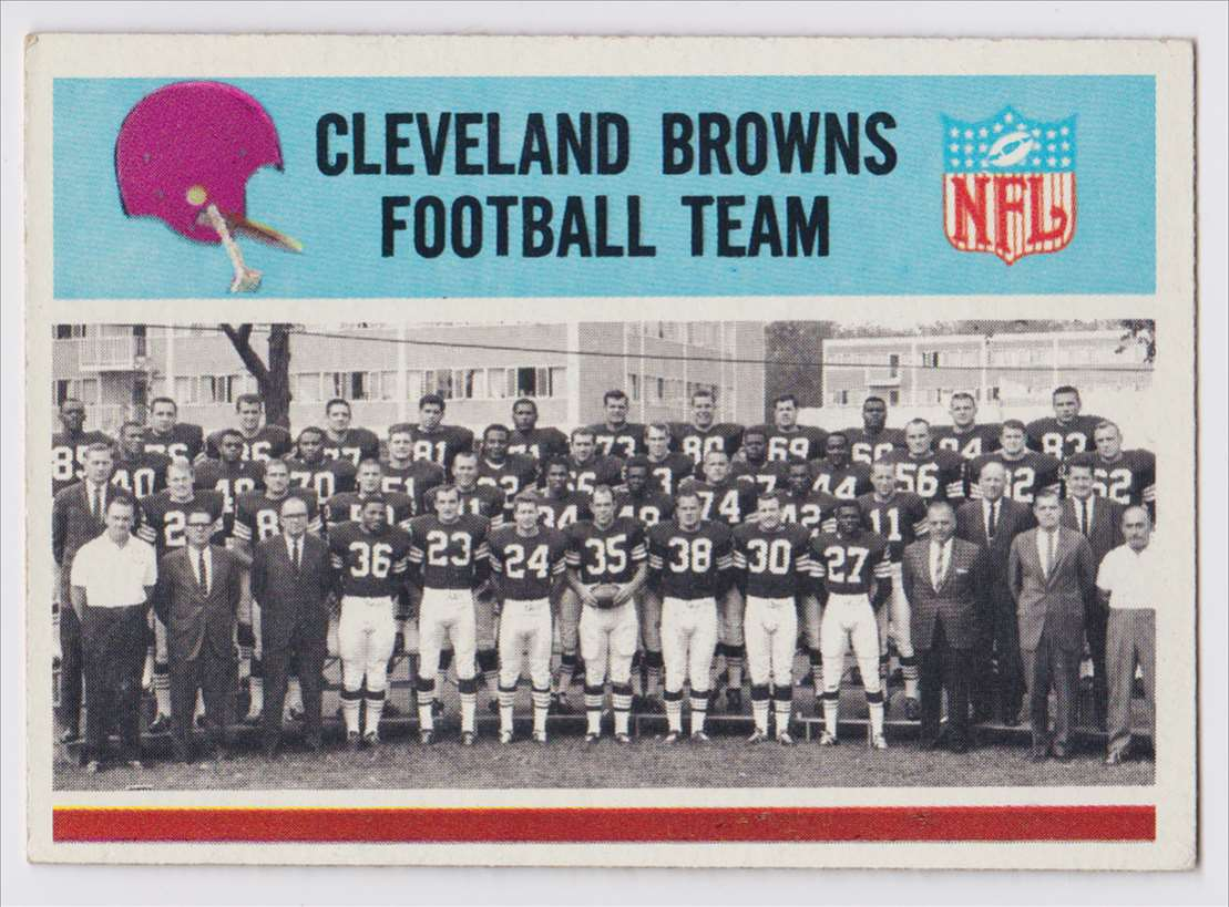 1966 Pcgc Browns Team #40 card front image
