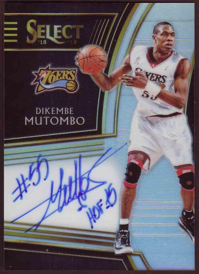 2018-19 Panini Select Signatures Dikembe Mutombo #SG-DKM card front image