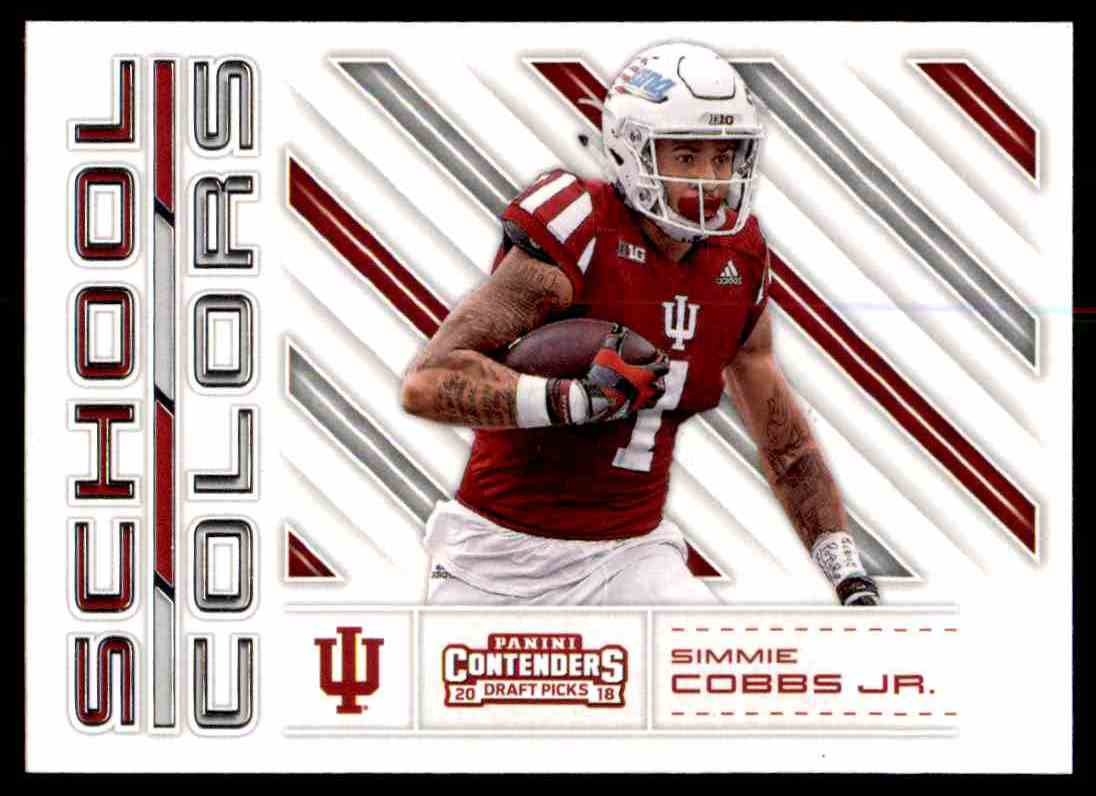 new style 91ba6 568cd Details about 2018 PANINI CONTENDERS SCHOOL COLORS SIMMIE COBBS JR. RC  INDIANA HOOSIERS #20