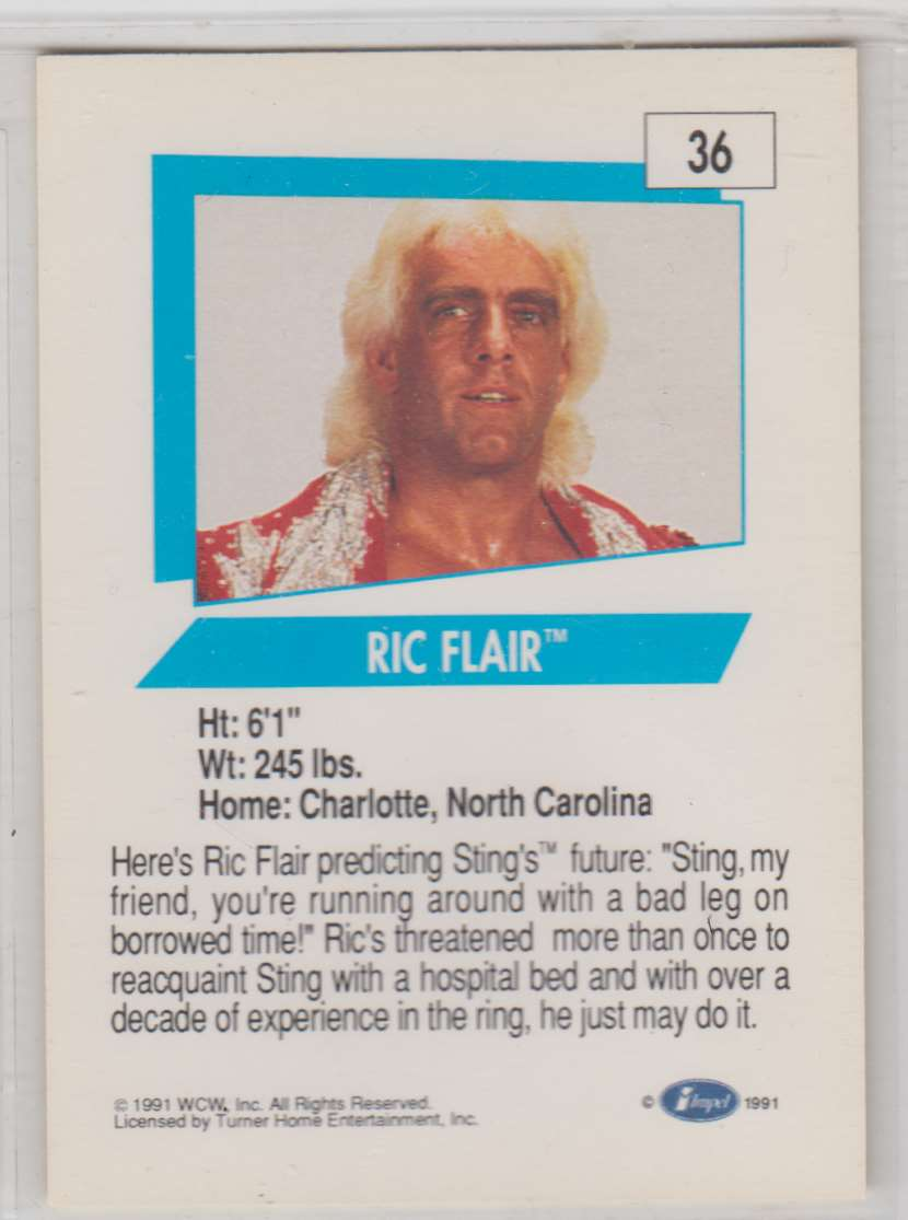 1991 Impel Wcw Ric Flair #36 card back image