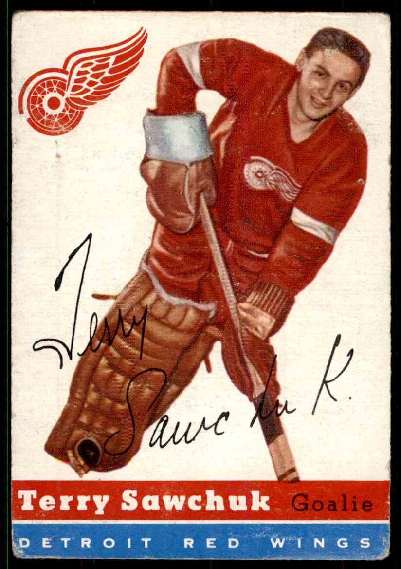 1954-55 Topps Terry Sawchuk #58 card front image