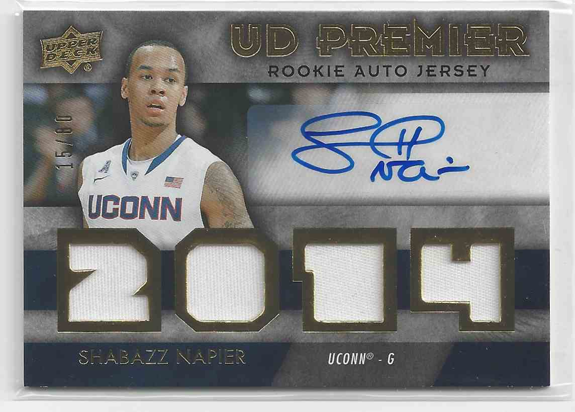 finest selection ad5d7 a9faf 2014-15 UD Premier Rookie Auto/Autograph Jersey Shabazz ...