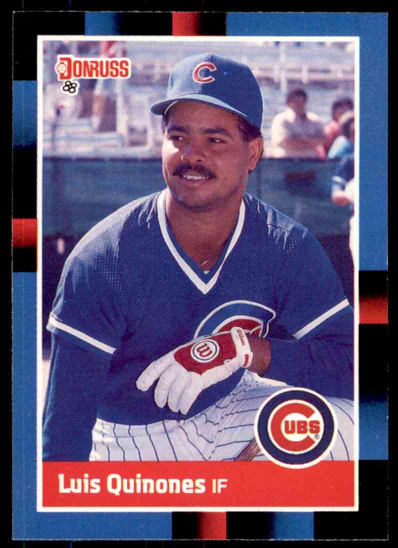 1988 Donruss Baseball Luis Quinones 365 On Kronozio