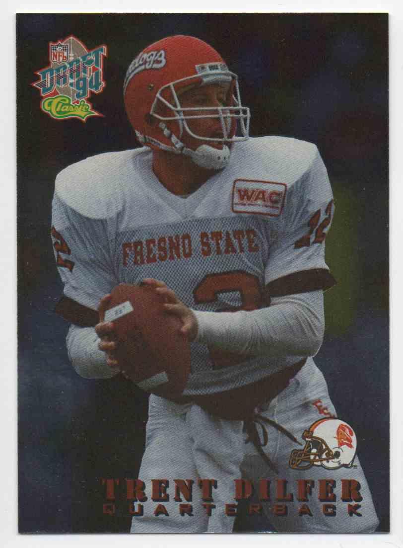 1994 Classic Draft Draft Stars Trent Dilfer #4 card front image