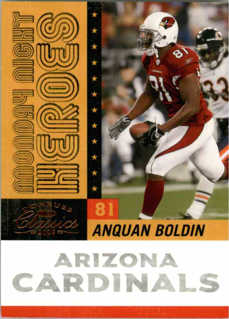 2007 Donruss Classics Anquan Boldin #MNH7 card front image