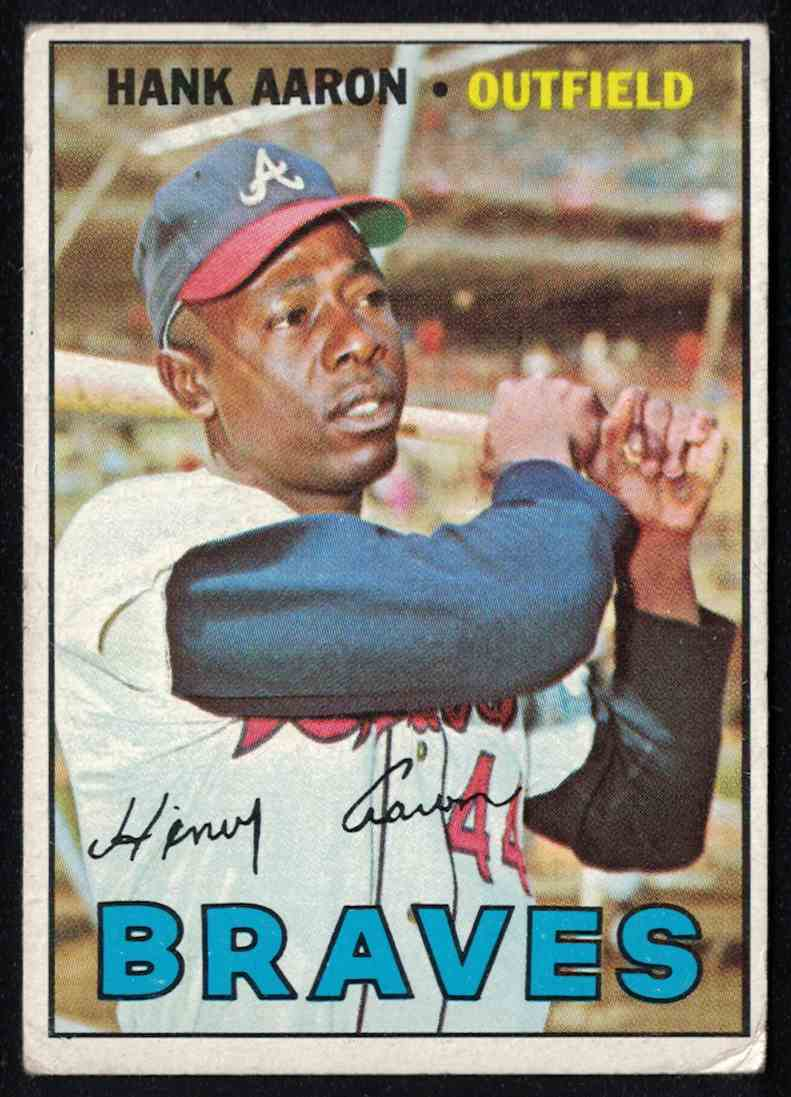 1967 Topps Hank Aaron VG-EX #250 card front image