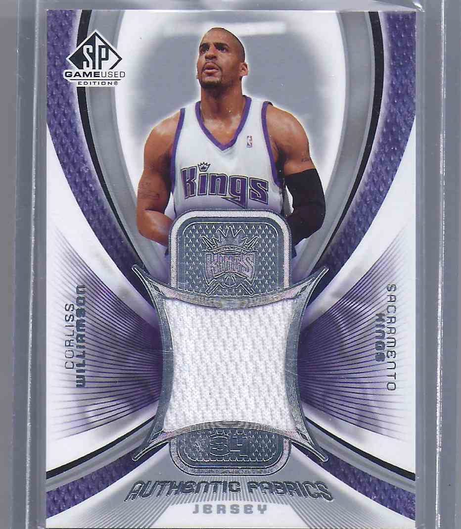 2005-06 SP Game Used Authentic Fabrics Corliss Williamson #CW card front image