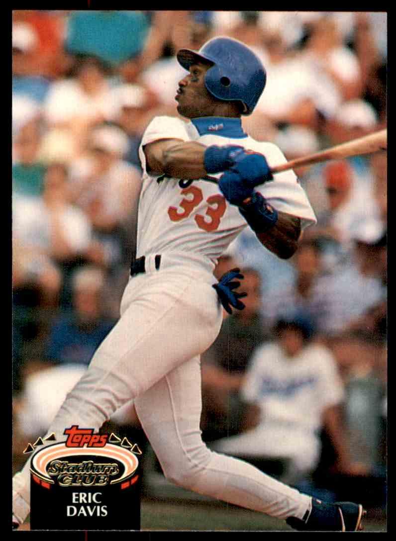 1992 Stadium Club Eric Davis #660 card front image