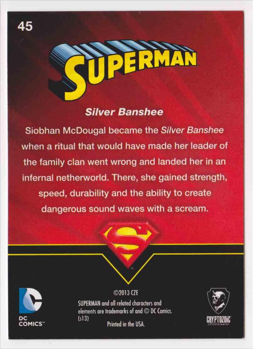 2013 Superman Cryptozoic Superman #45 card back image