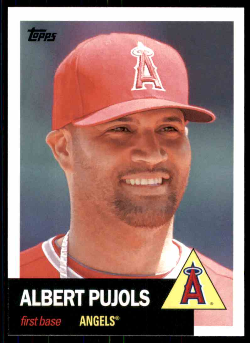 2016 Topps Archives Albert Pujols #1 card front image