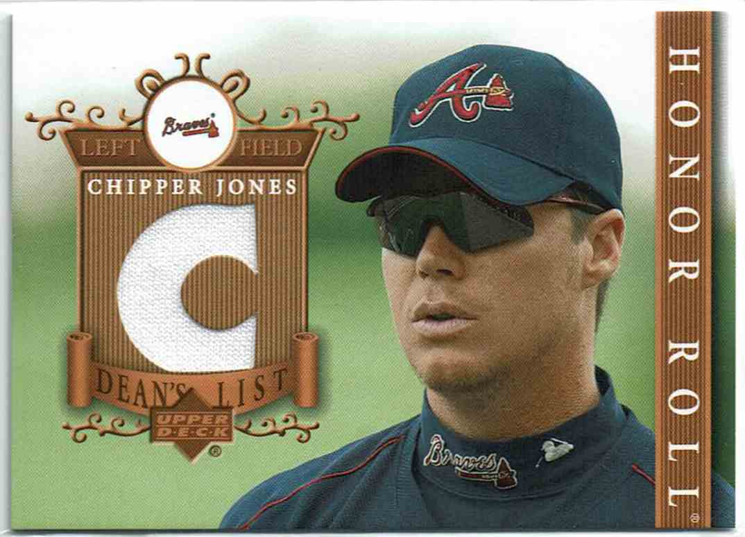 2003 Upper Deck Honor Roll Dean's List Chipper Jones #DL-CJ card front image