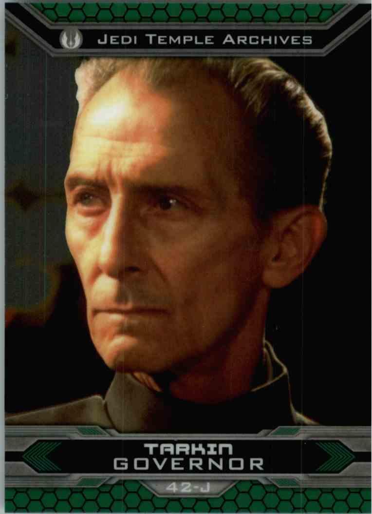 2015 Topps Chrome Star Wars Jedi Temple Archives Tarkin #42-J card front image