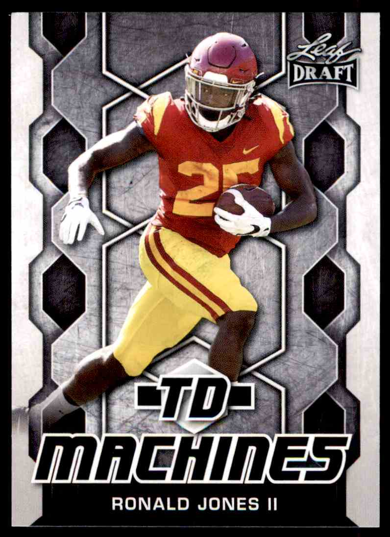 2018 Leaf Draft Ronald Jones II #TD-16 card front image