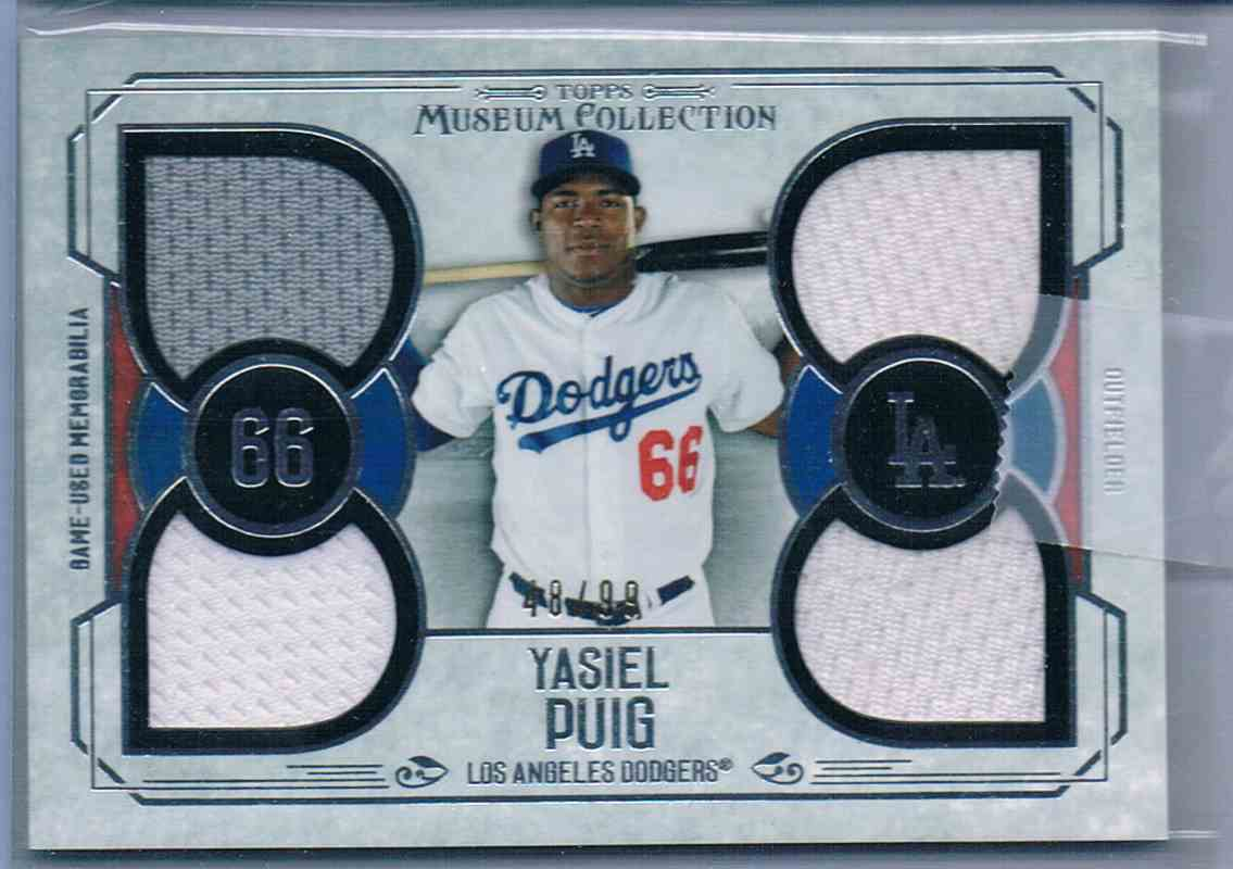 2016 Topps Museum Collection Yasiel Puig #PPQR-YP card front image