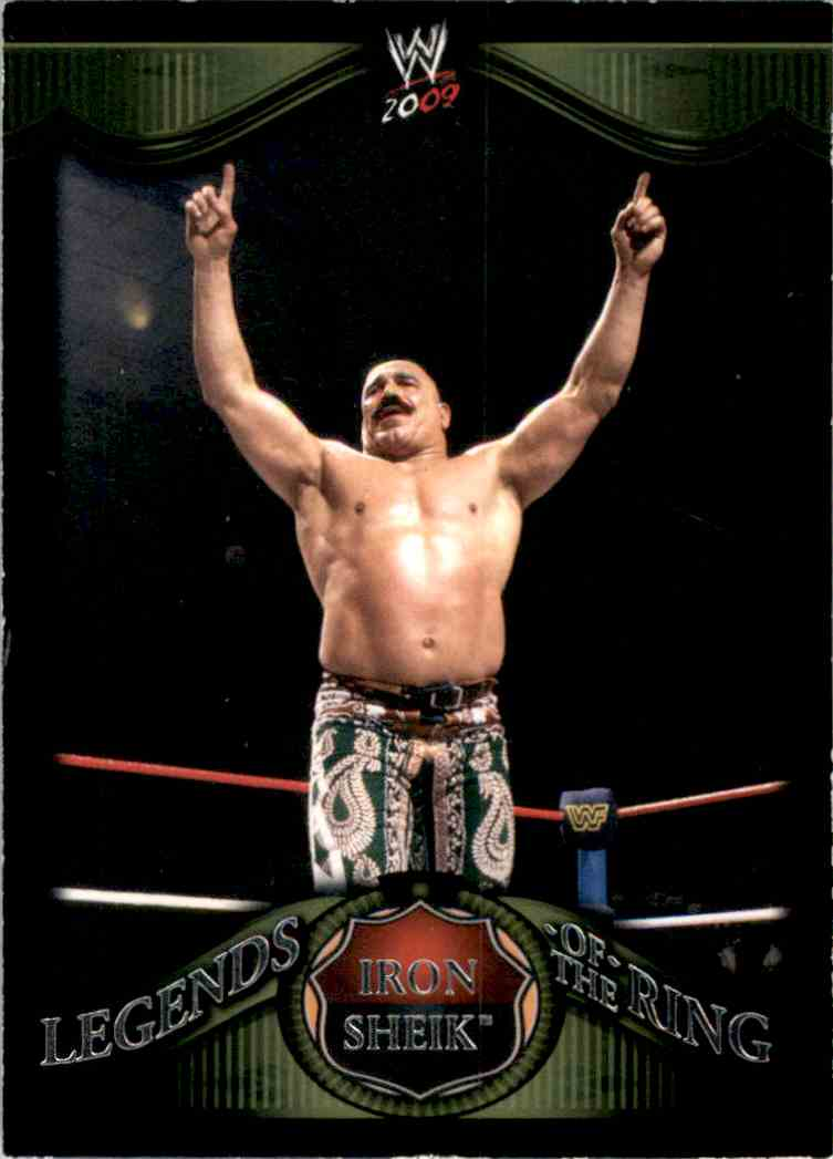 2009 Topps Wwe Legends Of The Ring Iron Sheik #7 card front image