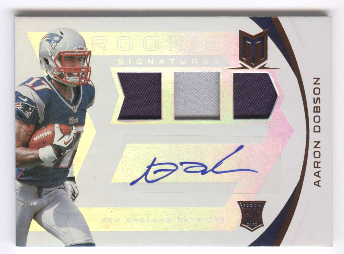 2013 Panini Momentum Rookie Signature Rps Aaron Dobson #201 card front image