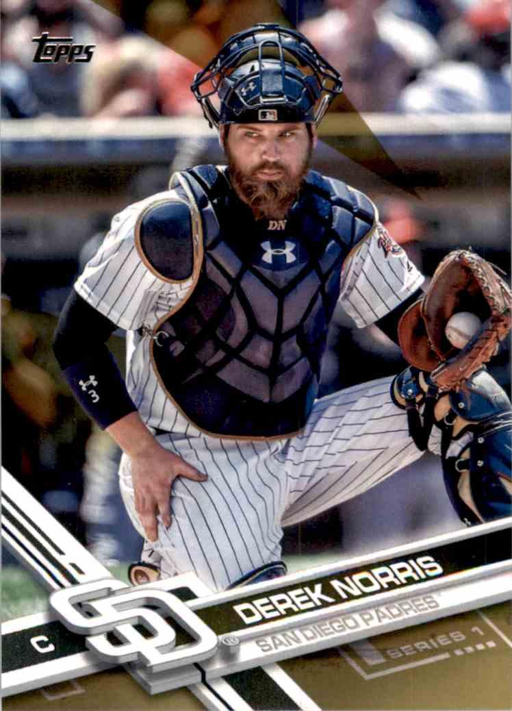 2017 Topps Derek Norris #92 card front image