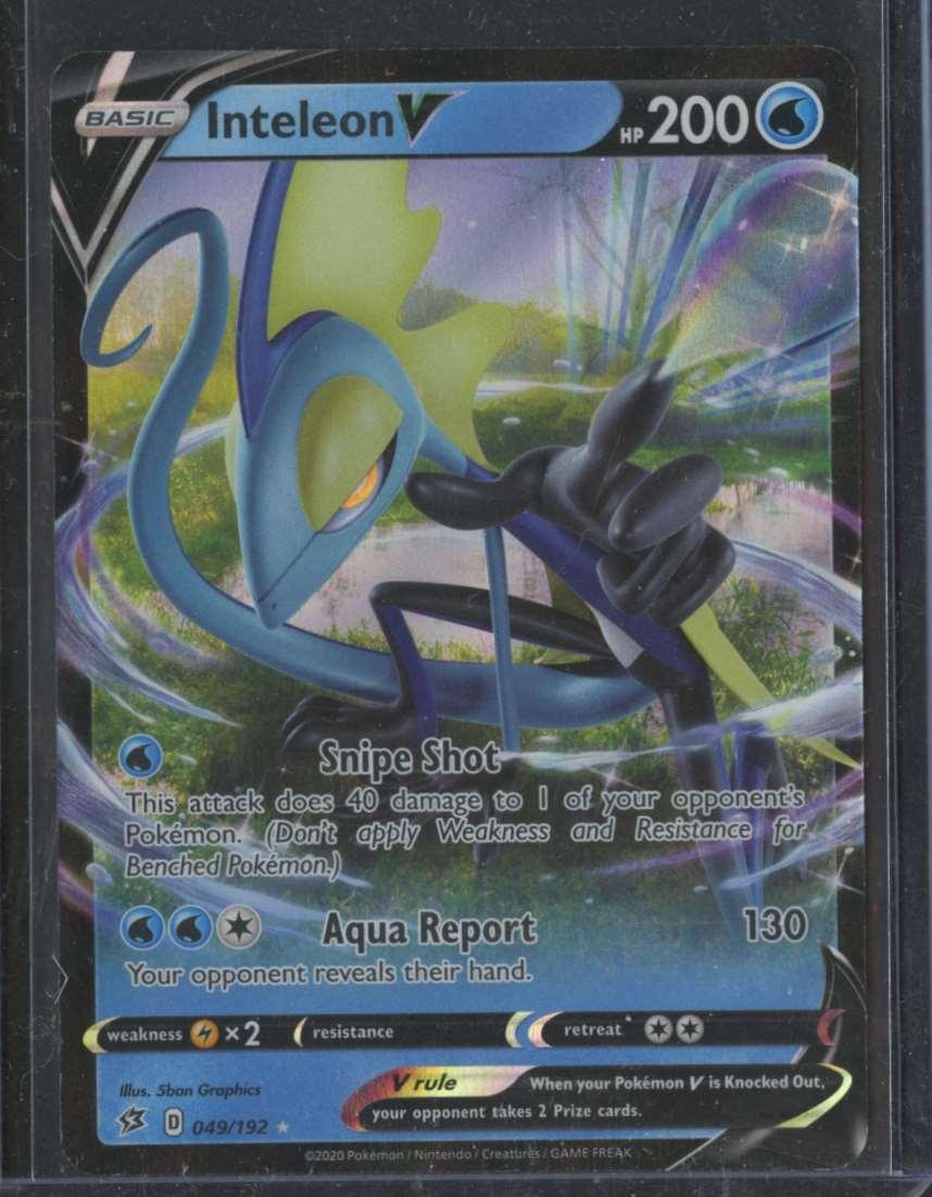 2020 Pokemon Swsh Rebel Clash Inteleon V #49 card front image
