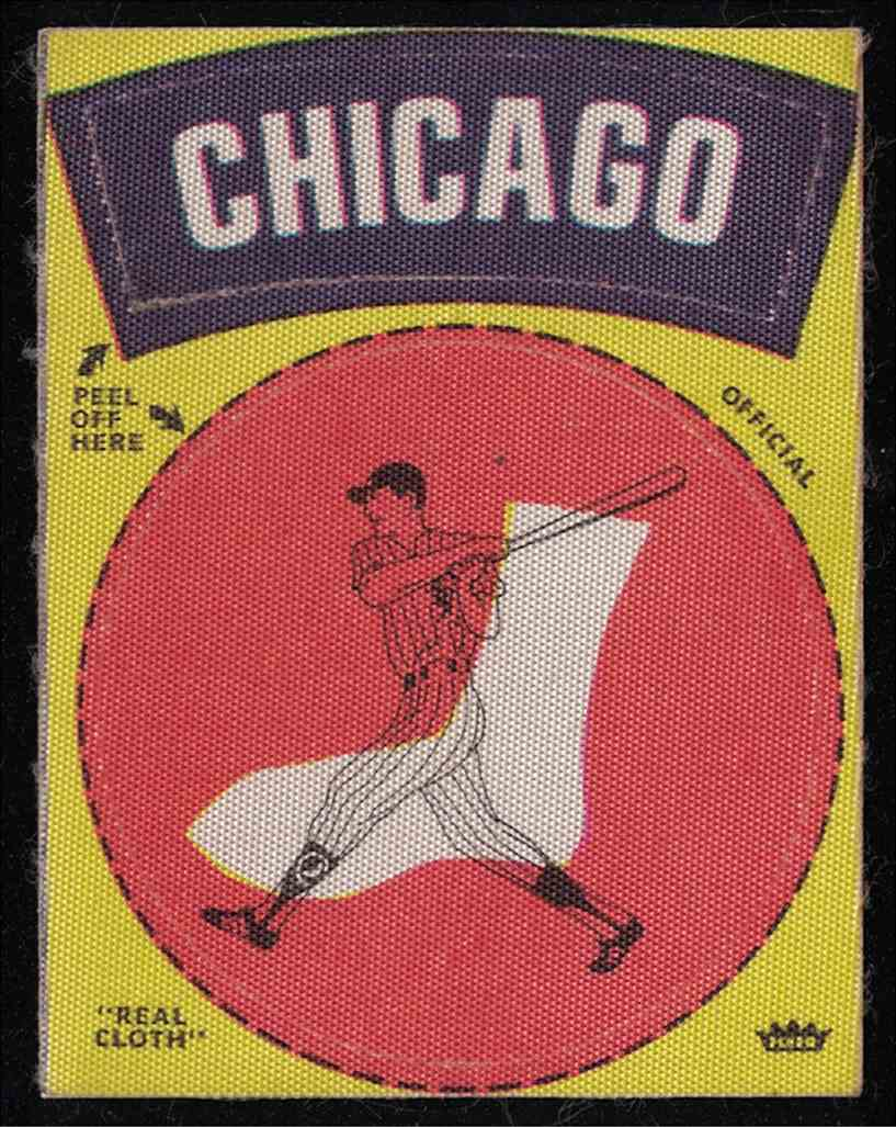 1969 Fleer 1969-1972 Baseball Cloth Team Patch Chicago White Sox card front image