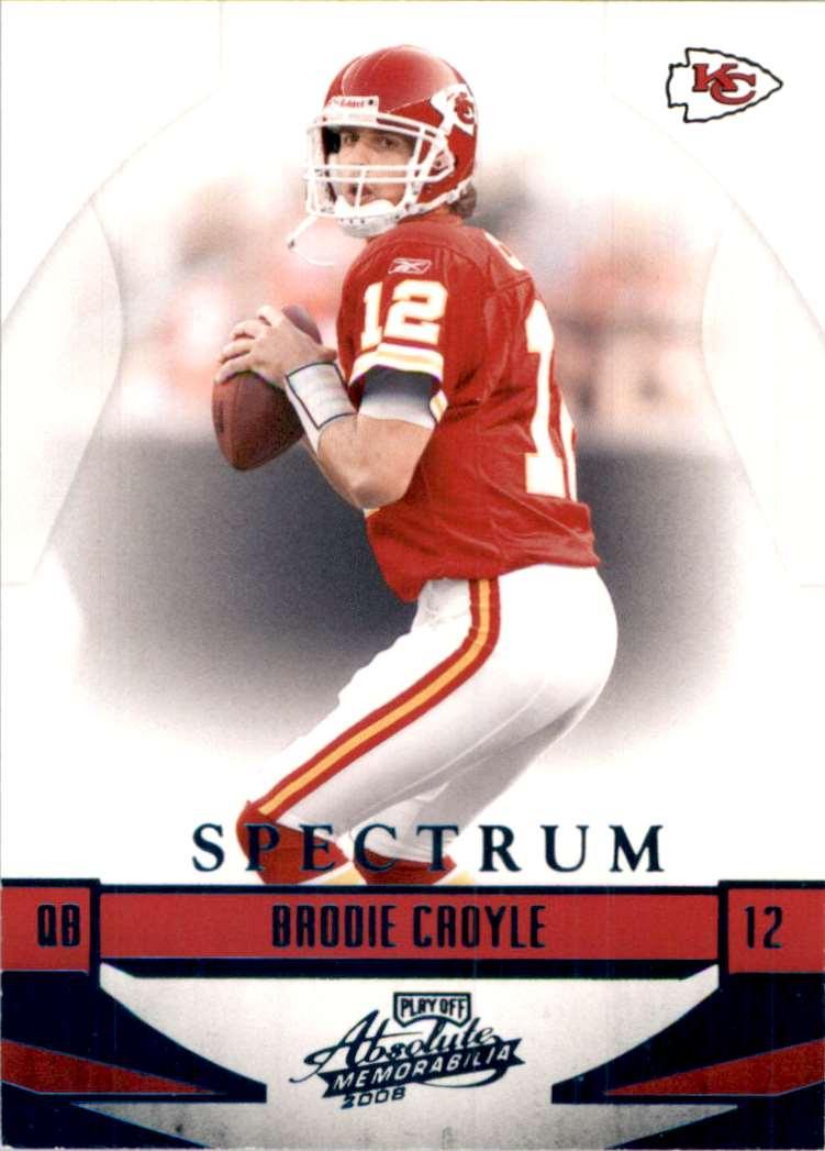 2008 Absolute Memorabilia Spectrum Blue Retail Brodie Croyle #74 card front image