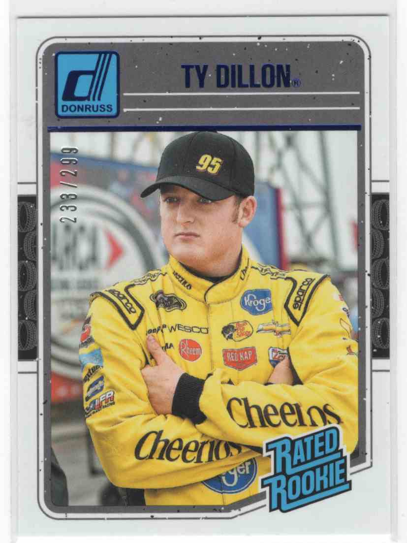 2017 Panini Donruss Racing Ty Dillon #28 card front image
